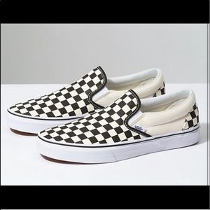 Black & white checkered vans